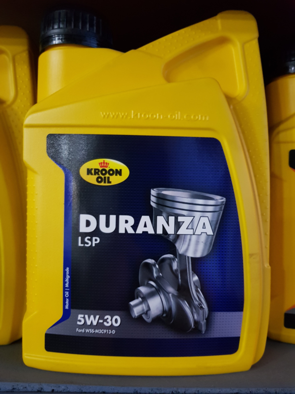 Fabriksnye Flacon 1L Kroon Oil Motorolie Duranza Mazda MX5 MX-5 5W30 Olie NC AY-13