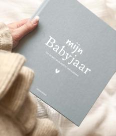 Mijn babyjaar invulboek linnen- blauw