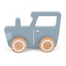 Little Dutch houten tractor blauw