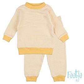 Feetje pyjama wafel oker geel