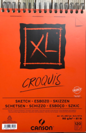 Canson Croqius XL sketch pad with ring.