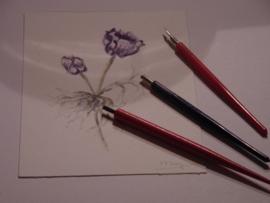 Omsteekhouder + pen