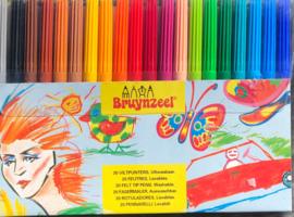Bruynzeel felt tip pens set.