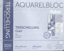 Schut Terschelling Aquarelblok glad.
