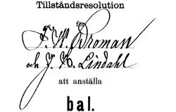 Handtekening uit 1889.