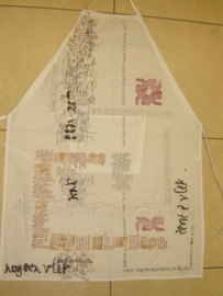 Apron with pockets.