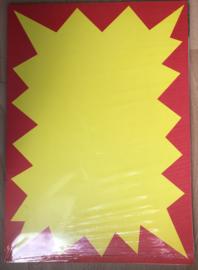 Papier, voorbedrukte poster A3.