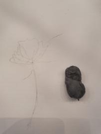 Bloem aquarelleren en kalligrafie.
