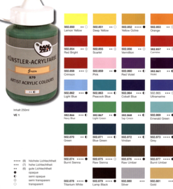Acrylic paint 250ml.