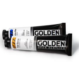 Goldene Acrylfarbe offen.