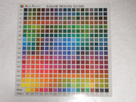 Color mixing card.