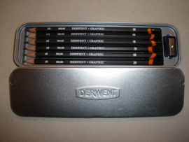 Derwent pencils in metal case.