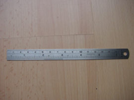 Bookbinders ruler iron.
