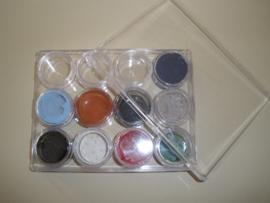 Hardbox with 12 round screw jars
