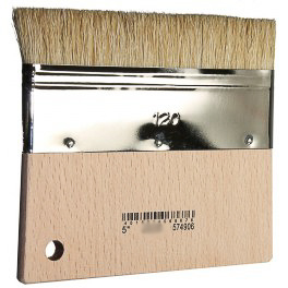 Brush, wide, with short handle.