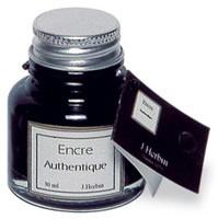 Ossengal inkt. Een grijszwarte inkt, uit pigmenten gemaakt. Notaris inkt.