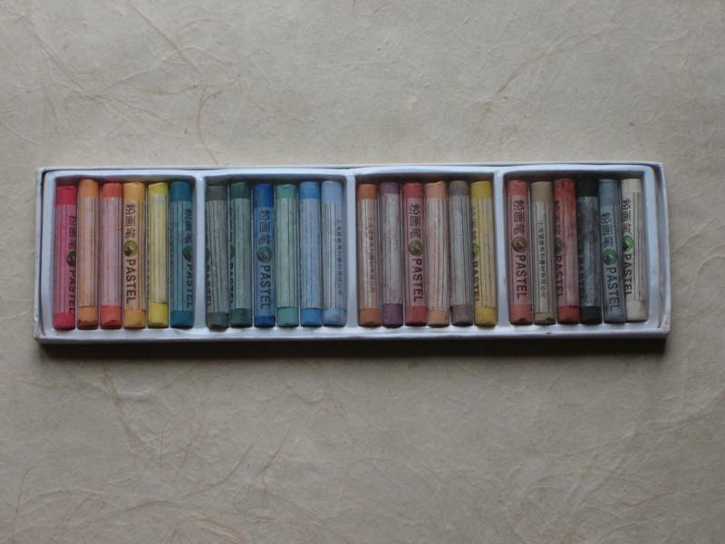 Pastel chalk set.