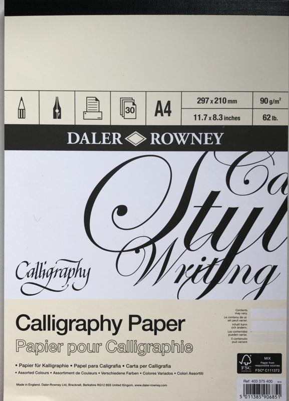 Kalligrafie block parchement a4.
