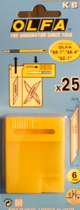 Olfa art knife AK1 reservemesjes.