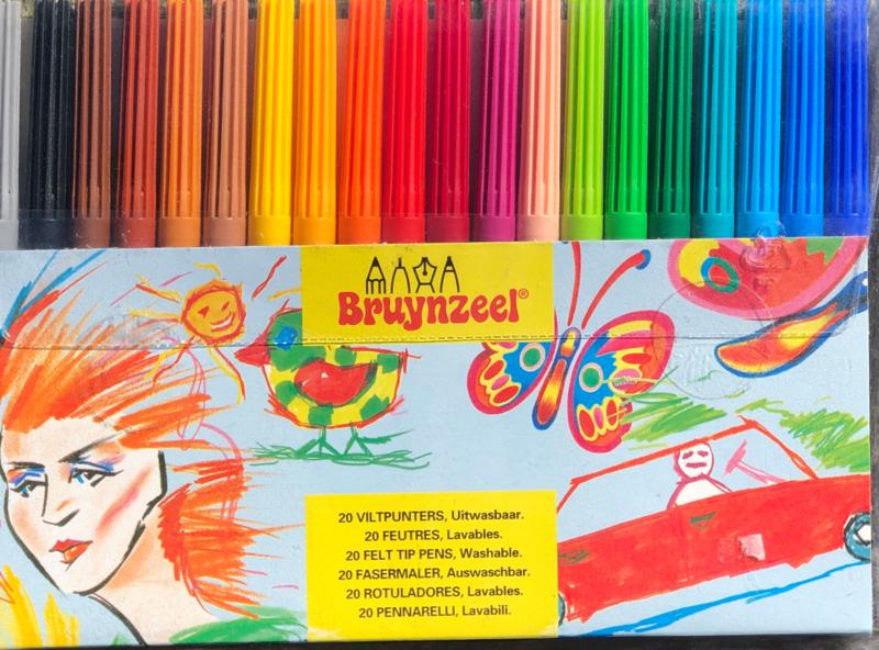 Bruynzeel viltstiften set.