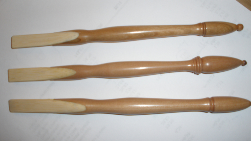 Handgemaakte houten pen, bamboe schrijfgedeelte