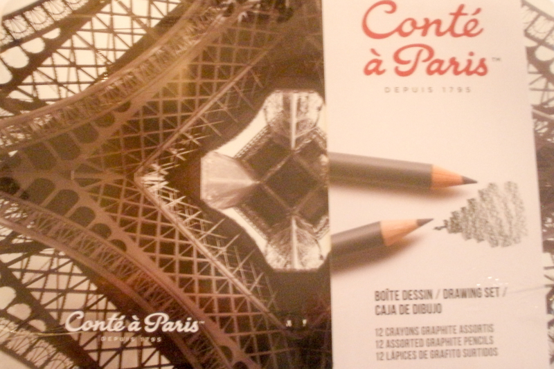 Conte pencil set.