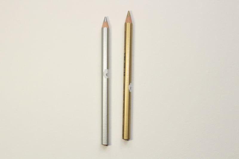 Kleur potlood Goud en Zilver jumbo
