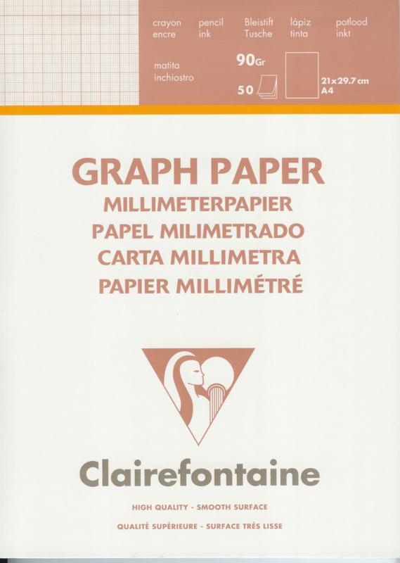 Millimeter papier in blok.