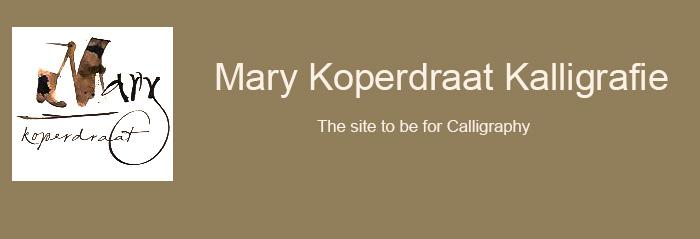 Mary Koperdraat Kalligrafie