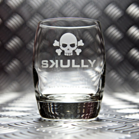 TUMBLER SKULLY GLASS / 35cl