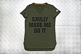 T-SHIRT SKULLY MADE ME / Lady-fit
