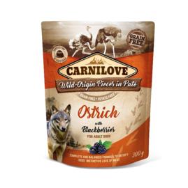 Carnilove Dog Pouch Paté Ostrich with Blackberries 300gr
