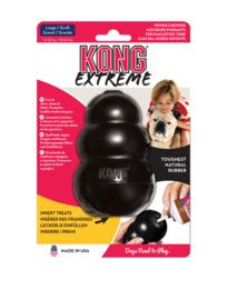 Kong hond Extreme rubber L, zwart.