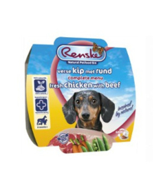 Renske Vers Vlees Maaltijd Gestoomd Kip/Rund 100gr