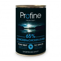 Profine Grain Free Pure Meat Chicken & Chickenliver 400gr