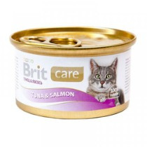 Brit Care Cans Cat Tuna & Salmon 80gr