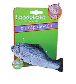 Boon kattenspeelgoed vis met catnip blauw/grijs, 11 cm.