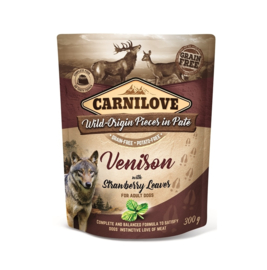 Carnilove Pouch Venison with Strawberry 300gr