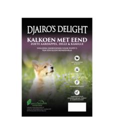Djairo's Delight Puppy -kleine rassen- Kalkoen met Eend, 6kg
