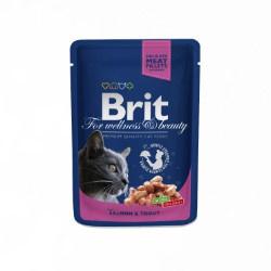Brit Premium Cat Pouches with Salmon/Trout 100gr