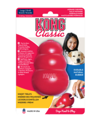 Kong hond Classic rubber L, rood.