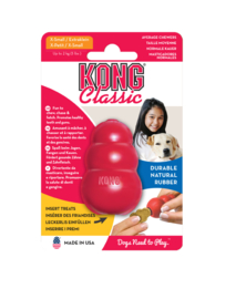 Kong hond Classic rubber XS, rood.
