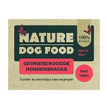 Nature Dog Food Gevriesdroogde Snacks 100% Hertenvlees 60gr