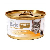 Brit Care Cans Cat Tuna, Carrot & Pea 80gr