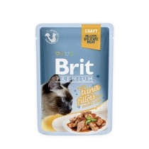 Brit Cat Pouch with Tonijn stukjes in gravy 85gr
