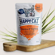 Happy Cat Meat in Sauce Adult Hunn/Truthahn 85gr