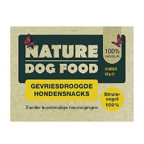 Nature Dog Food Gevriesdroogde Snacks 100% Struisvogel 40gr