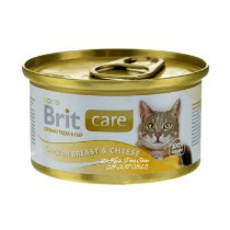 Brit Care Cans Cat Chicken & Cheese 80gr