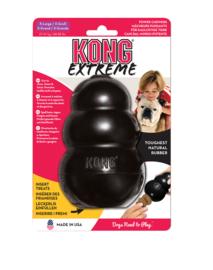 Kong hond Extreme rubber XL, zwart.