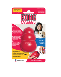 Kong hond Classic rubber S, rood.